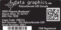 Data Graphics Inc Custom Identification Labels
