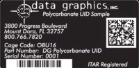 Data Graphics Inc Custom Identification Labels