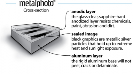 Cross-Section of a Metal Photo Print