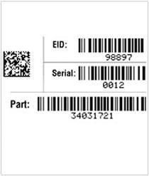 Serialized/UID Die Cut Vinyl Decal – Print Variable Data