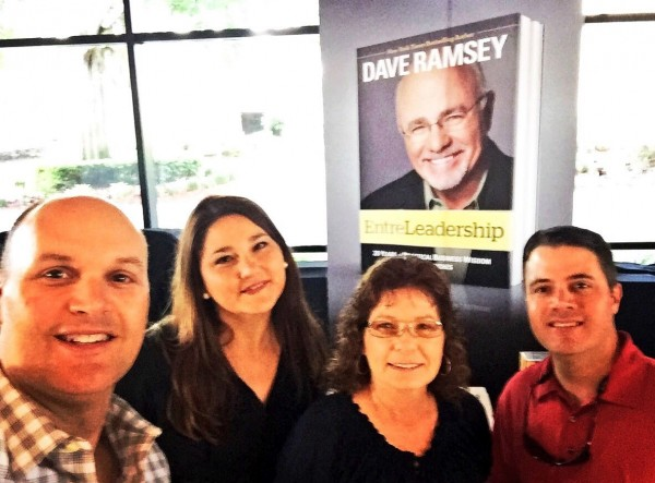 Brad, Buffy, Liz and Mike at the Dave Ramsey Entre-Leadership Conference in Orlando 4/14/16