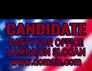 Flag Backdrop Election Sign 600