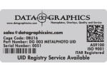 Custom UIDs - UID Identification Label Made Exactly to Your Specs