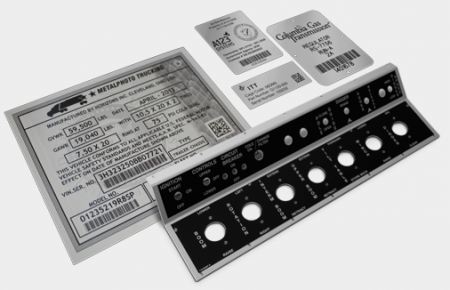 Collage- Metalphoto Nameplates and Control Panels