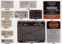 Collage of Metalphoto Aluminum Equipment Label
