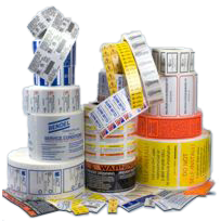 Asset Inventory Labels- Flexo and Hot Stamped Roll Labels