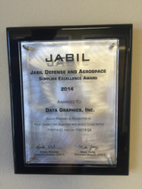 Jabil Defense and Aerospace Supplier Excellence Award