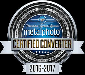 Metalphoto Certified Converter Certificate