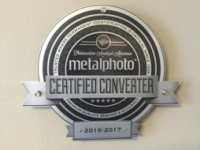 Metalphoto Certified Converter Plaque