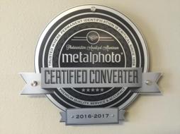 Metalphoto Certified Converter Plaque