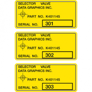 Digitally Printed Asset Tracking System Labels