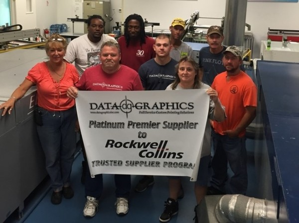 Rockwell Collins Platinum Premier Supplier and Screen Printers