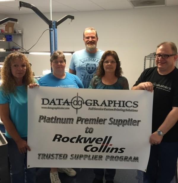 Celebrating Rockwell Collins Platinum Premier Supplier Status